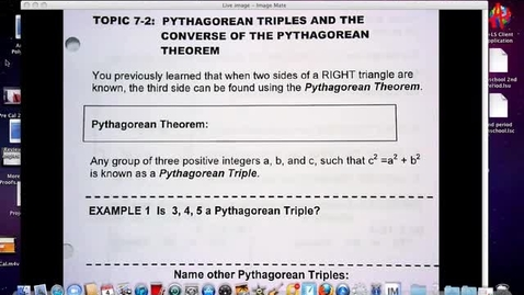 Thumbnail for entry Converse of Pythagorean Theorem