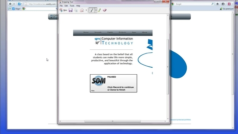 Thumbnail for entry Snipping Tool: Another way to do screenshots in windoze
