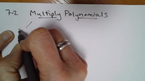 Thumbnail for entry Alg H E07 (TSW 3) Multiplying Polynomials