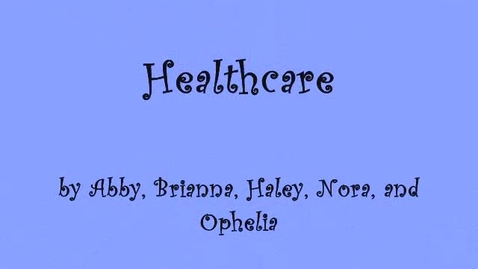 Thumbnail for entry Healthcare Video