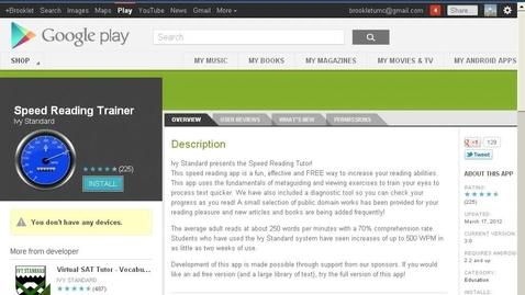 Thumbnail for entry Speed Reader Trainer App