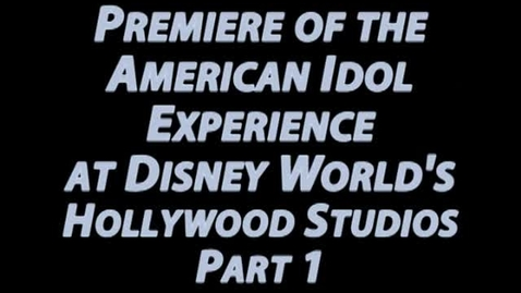 Thumbnail for entry Damon Weaver at the Premiere of the American Idol Experience at Disney's Holywood Studios: Part 1