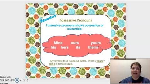 Thumbnail for entry Possessive Pronouns