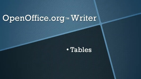 Thumbnail for entry Insert a Table in OpenOffice.org™ Writer