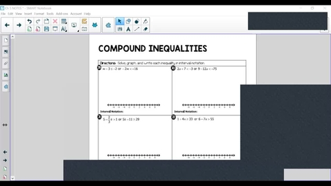 Thumbnail for entry Compound Inequality-Absolute Value Inequality