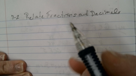 Thumbnail for entry Relate Fractions and Decimals