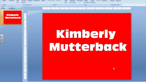 Thumbnail for entry Inserting Other Items into My Powerpoint