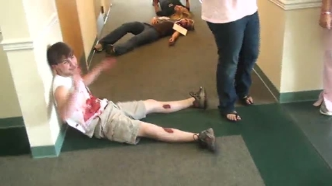 Thumbnail for entry Luverne HOSA Students take Part in Disaster Drill