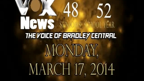 Thumbnail for entry VOX News for Monday, March 17, 2014