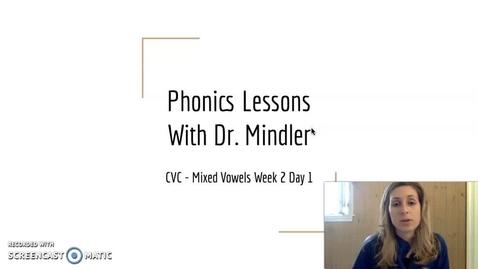 Thumbnail for entry Part1 Week2 Mixed Vowel CVC
