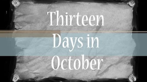 Thumbnail for entry Thirteen Days In October