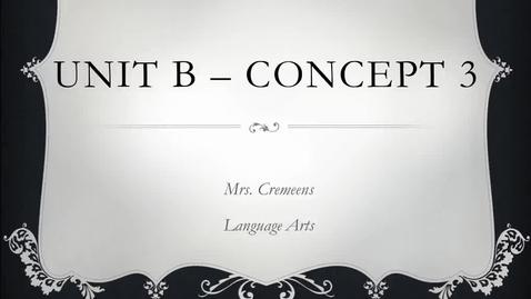 Thumbnail for entry Unit B - Concept 3 Video