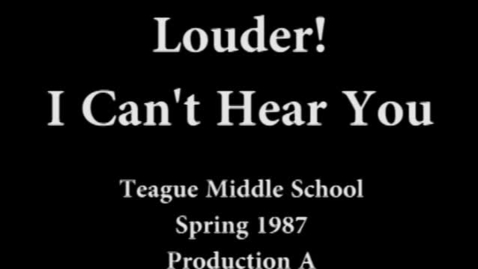 "Thumbnail for entry ""Louder! I Can't Hear You!"" Spring 1987, First Presentation"