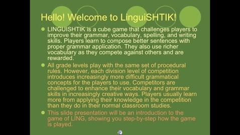 Thumbnail for entry Playing LinguiSHTIK