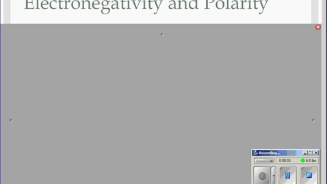 Thumbnail for entry Stephens Chemistry: (11-19-13) 9.5 Electronegativity and Bond Polarity