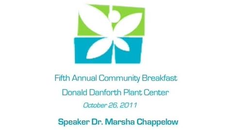 Thumbnail for entry LEF Community Breakfast - Dr. Marsha Chappelow
