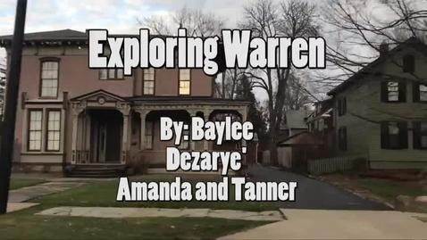 Thumbnail for entry Exploring Warren - WSCN (Sem 2 2017)