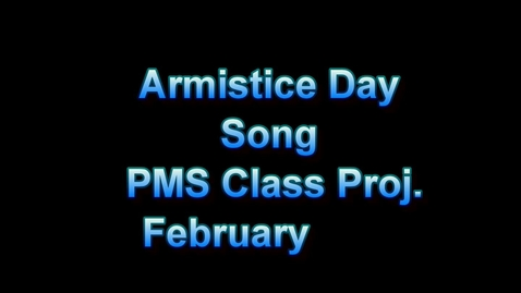 Thumbnail for entry Armistice day