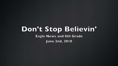 Thumbnail for entry Don't Stop Believin Lip Dub