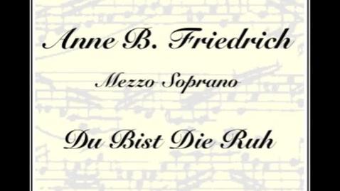 Thumbnail for entry Du Bist Die Ruh