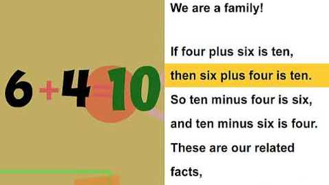 Thumbnail for entry Fact family   Math Song for grade one and two and three