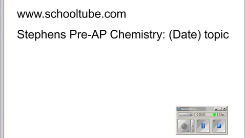 Thumbnail for entry Stephens Chemistry: (9-4-14) SI Prefixes and density