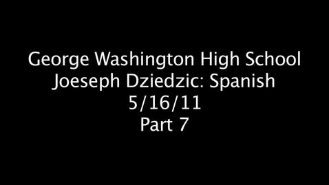 Thumbnail for entry Joeseph Dziedzic Part 7