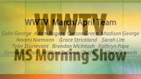 Thumbnail for entry WWTV March 31, 2015