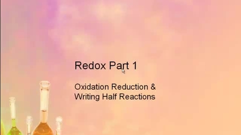 Thumbnail for entry AP Chem Redox Part 1