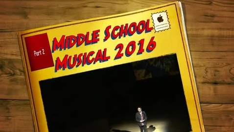 "Thumbnail for entry Middle School Musical ""Adventures of a Comic Book Artist"" - Part 2"