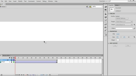 Thumbnail for entry How to mask text in Adobe Flash CS6