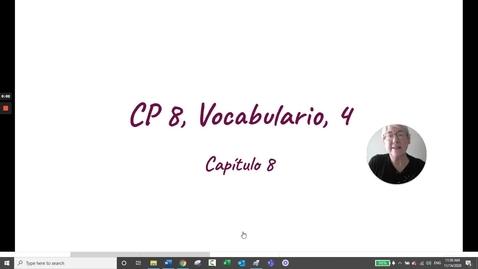 Thumbnail for entry CP 8 VOCABULARIO 4