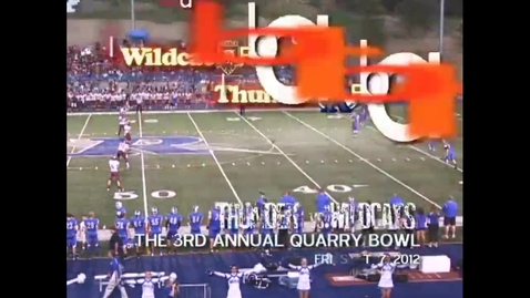 Thumbnail for entry 3rd Annual Quarry Bowl, RHS v. WHS Football, 1st Half