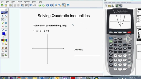 Thumbnail for entry Solving Quadratic Inequalities