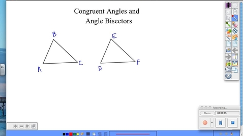 Thumbnail for entry BGeo 2.5 Congruent Angles and Angle Bisectors