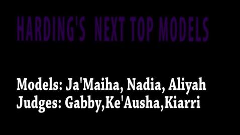 Thumbnail for entry Harding's Next Top Model - WSCN (Sem 2 2017)