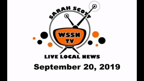 Thumbnail for entry WSSN News September 20, 2019