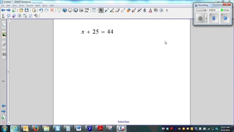 Thumbnail for entry Solving One-step Equations whole numbers