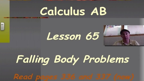 Thumbnail for entry Lynch - AP Calculus AB: Lesson 65