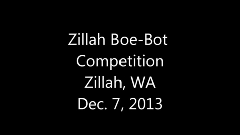 Thumbnail for entry Zillah Robot Competition 2013
