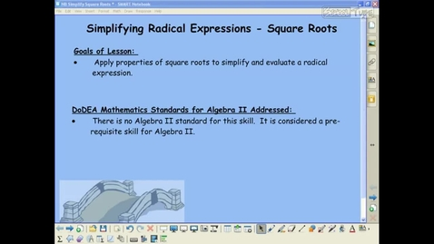 Thumbnail for entry Alg 2 - 6.1 Simplify Square Roots