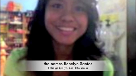 Thumbnail for entry Benelyn's Autobiography :)