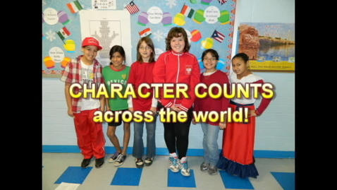 Thumbnail for entry Character Counts at Emerson Elementary and across the world!