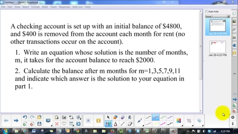 Thumbnail for entry Screencast Chapter 8 Solving Equations Problem