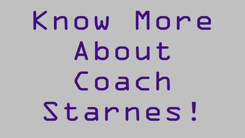Thumbnail for entry Coach Starnes