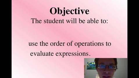 Thumbnail for entry Order of Operations Review