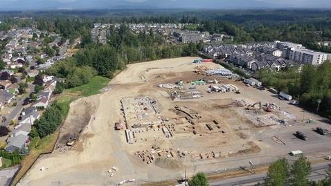 Thumbnail for entry Lea Hill Elementary Drone Footage Site Progress August 2021