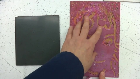 Thumbnail for entry Linoleum Block Print 6: Print_Base Coat