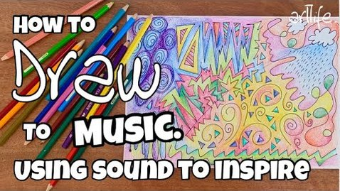 Thumbnail for entry Free and fun ART and MUSIC lesson: A guided drawing activity by listening to SOUND #artlife #art
