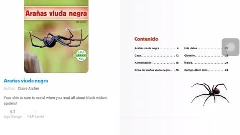 Thumbnail for entry Lectura - Arañas viuda negra -lunes 10-26-20